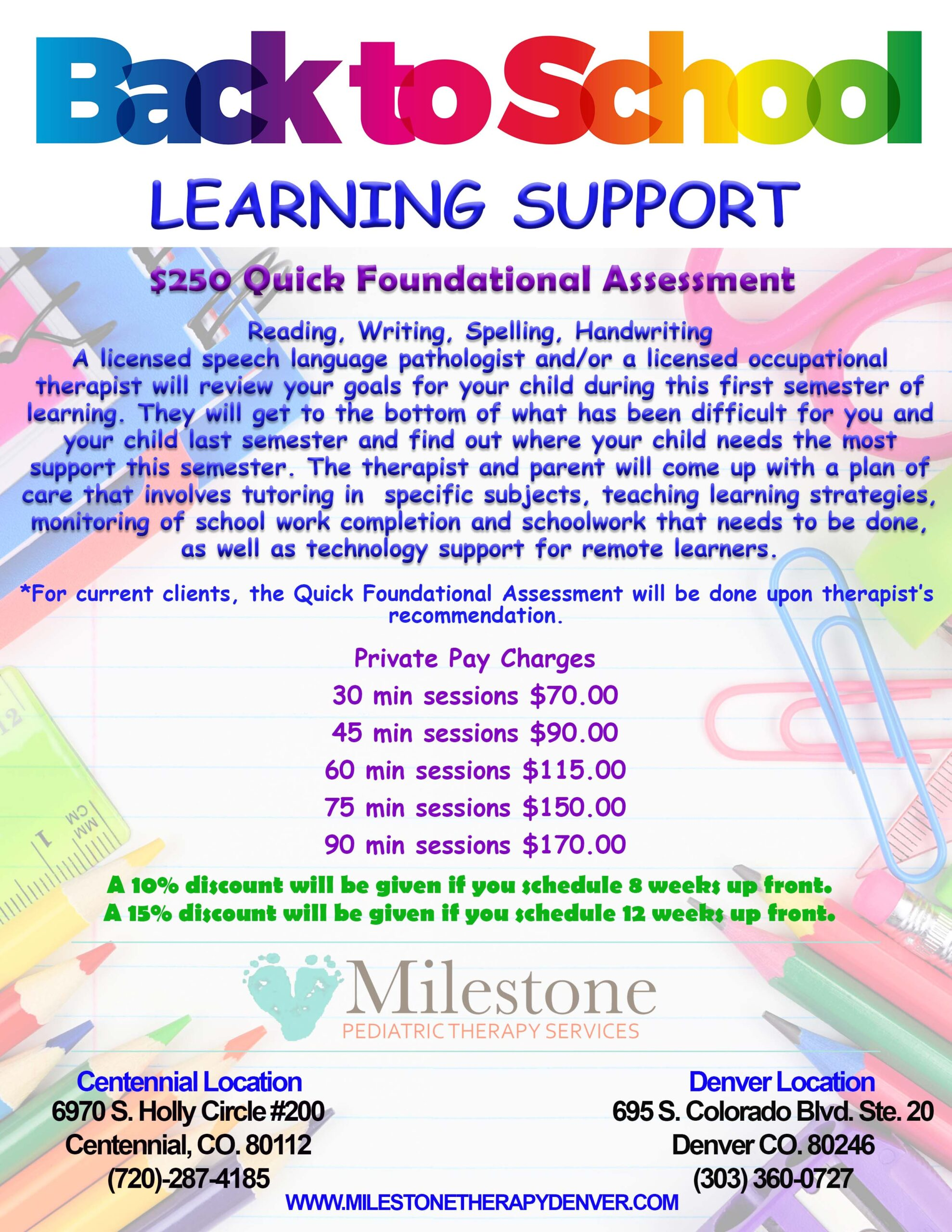 Back to School Learning Support
